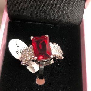 Peermont Jewelry Ruby & Cubic Zirconia Cut Ring